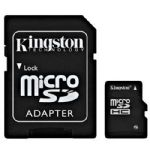 Kingston 16GB microSDHC Class 4 Flash Card with Adapter SDC4/16GB