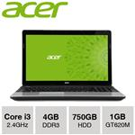 "Acer Aspire E1-571G-33114G75 15.6"" Core i3 4GB 750GB GT62..."