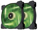 Corsair Air Series SP140 LED 140mm High Static Pressure Fan Green - Twin Pack