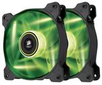 Corsair Air Series SP120 Green LED 120mm High Static Pressure Fan - Twin Pack