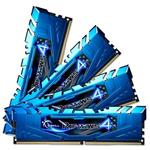 G.Skill Ripjaws4 32GB (4x 8GB) DDR4 2666MHz Memory Blue