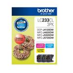 Brother LC233 CMY Colour Pack Up to 550 pages each Misc Consumables