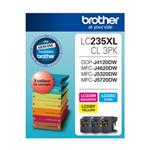 Brother LC235XL CMY Colour Pck Up to 1,200 pages each Misc Consumables