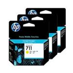 HP 711 3-pack 29-ml Yellow Ink Cartridges CZ136A