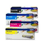 Brother TN25x Clr Value 4 Pack Ink Cartridges - Black, Cyan, Magenta, Yellow