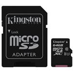 Kingston SDC10G2 64GB microSDXC Class 10 UHS-I Memory Card - 45MB/s