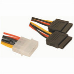Male Molex to 2 x SATA Power Converter