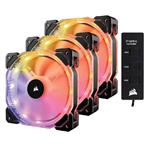 Corsair HD120 RGB LED High Performance 120mm PWM Fan -Three Pack with Controller
