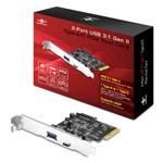 Vantec UGT-PC371AC 2 Port USB 3.1 Gen II Type A/C PCIe Host Card