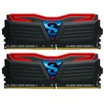 GeIL SUPER LUCE Red LED 16GB (2x 8GB) DDR4 2400MHz Memory Black