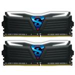 GeIL SUPER LUCE White LED 16GB (2x 8GB) DDR4 2400MHz Memory Black