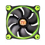 Thermaltake Riing 12 High Static Pressure 120mm Green LED Fan - 3 Fan Pack