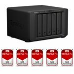 Synology DS1517+(2G) 5 Bay + 5x WD WD6002FFWX 6TB Red PRO NAS HDD