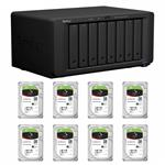 Synology DS1817+(2G) 8 Bay + 8x Seagate ST8000NE0004 8TB IronWolf Pro NAS HDD