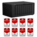 Synology DS1817+(8G) 8 Bay + 8x WD WD2002FFSX 2TB Red PRO NAS HDD