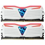 GeIL SUPER LUCE 16GB (2x8GB) DDR4 2400MHz Memory White/Red GLWR416GB2400C16DC