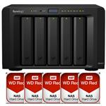 Synology DS1517 5 Bay NAS + 5x WD WD40EFRX 4TB Red NAS HDD