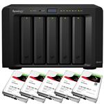 Synology DS1517 5 Bay NAS + 5x Seagate ST10000VN0004 10TB IronWolf NAS HDD