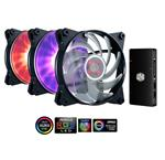 Cooler Master Masterfan Pro 120 Air Balance 120mm RGB Fan 3 Pack+LED Controller