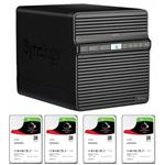 Synology DS418j 4 Bay NAS + 4x Seagate ST3000VN007 3TB IronWolf NAS HDD