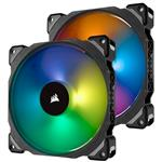 Corsair ML140 PRO RGB LED 140mm Magnetic Levitation Fan - 2 Pack with Controller