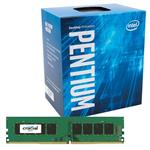 Bundle Deal: Intel Pentium G4560 Dual Core + Crucial 8GB (1x 8GB) DDR4 2400MHz