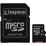 Kingston 64GB Canvas Select microSDXC UHS-I Class 10 Memory Card - 80MB/s