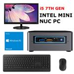 Essential NUC PC Package V1 - Intel i5 (120GB SSD+1TB HDD/8GB) Win10 Home
