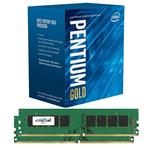 Bundle Deal: Intel Pentium G5400 LGA1151-2 + Crucial 8GB (2x 4GB) DDR4 Memory