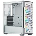 Corsair iCUE 220T RGB Smart Tempered Glass Mid-Tower ATX Case - White