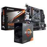 Bundle Deal: AMD Ryzen 5 3600 CPU + Gigabyte AORUS M B450 AM4 M-ATX Motherboard