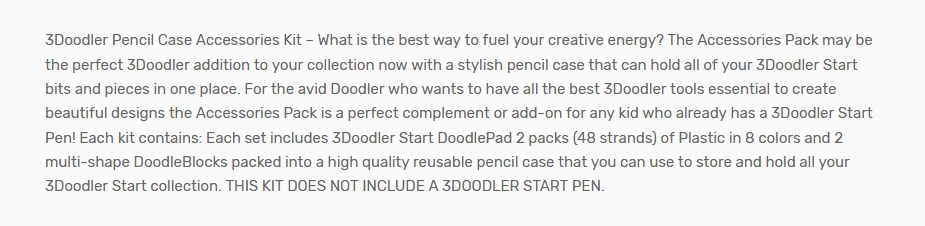 3Doodler Pencil Case Accessories Kit - Overview 1