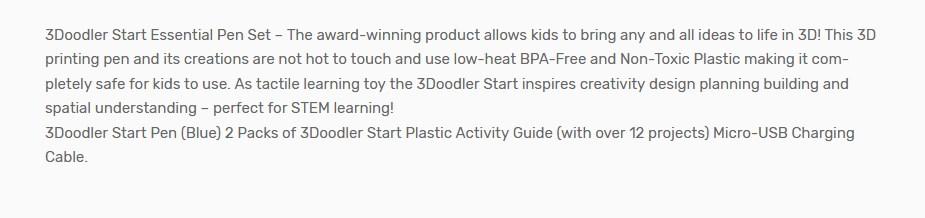 3Doodler Start Essential Pen Set - Overview 1