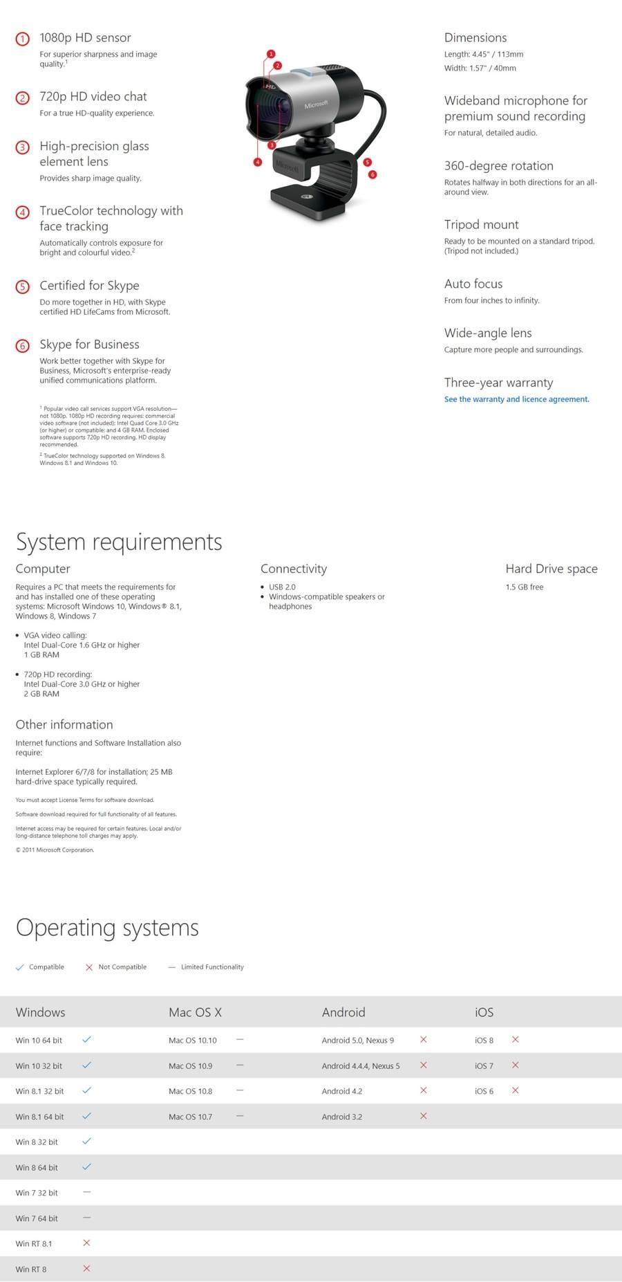 Microsoft LifeCam Studio Webcam (Q2F-00017)