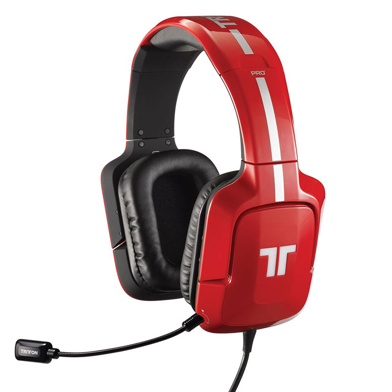 tritton pro true 5 1 surround gaming headset c red. Black Bedroom Furniture Sets. Home Design Ideas
