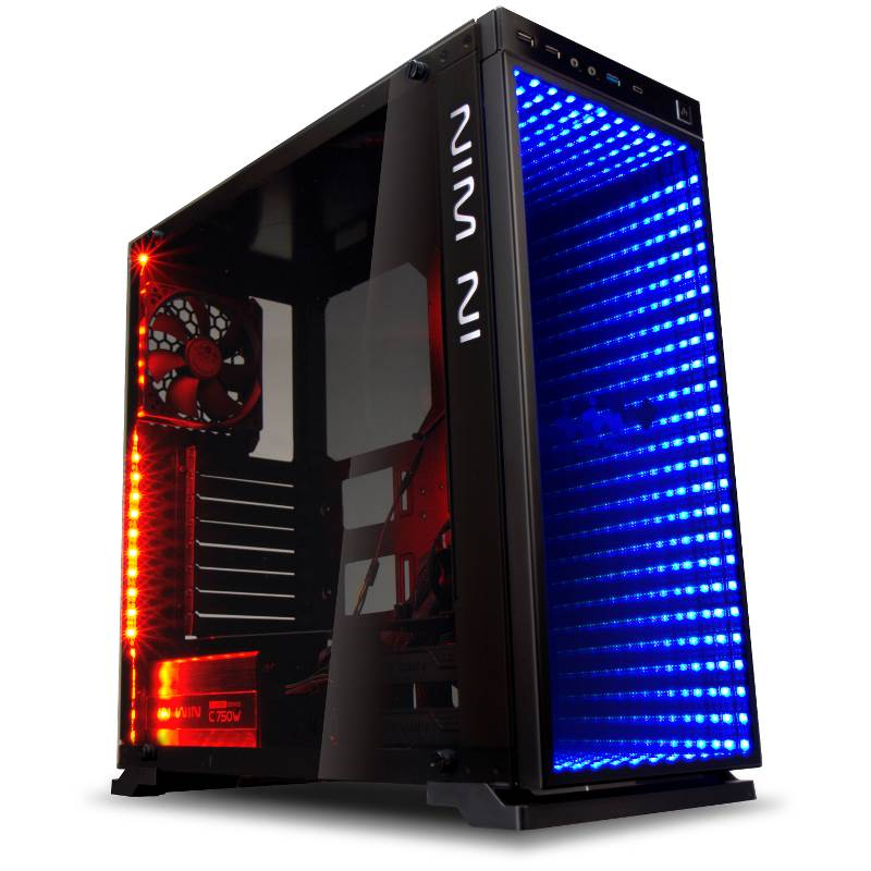 in win 805 infinity rgb tempered glass mid