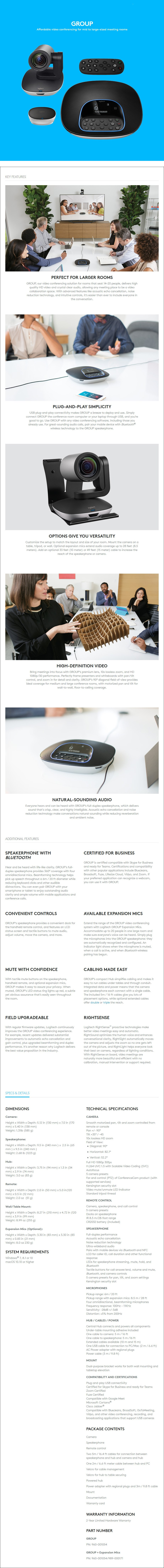 Intel NUC Logitech Video Conference Bundle Deal - Medium Room - Overview 3