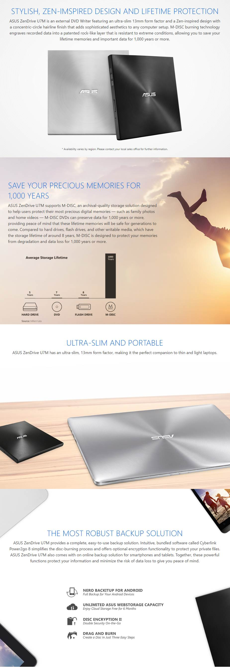 ASUS ZenDrive U7M External Ultra Slim DVD Writer