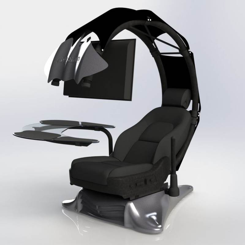 Droian Ergonomic Computer Workstation Chair Black Ssr