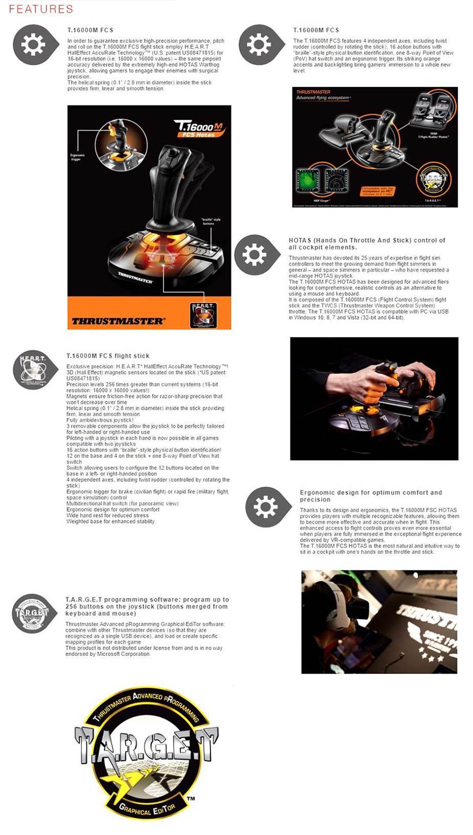 Details about Thrustmaster T 16000M FCS HOTAS Flight Joystick with TWCS  Throttle Bundle For PC