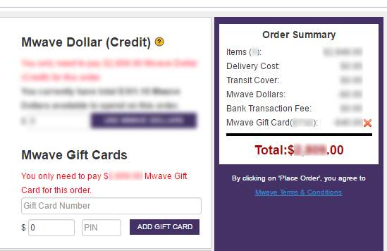 Mwave eGift Card How to Use