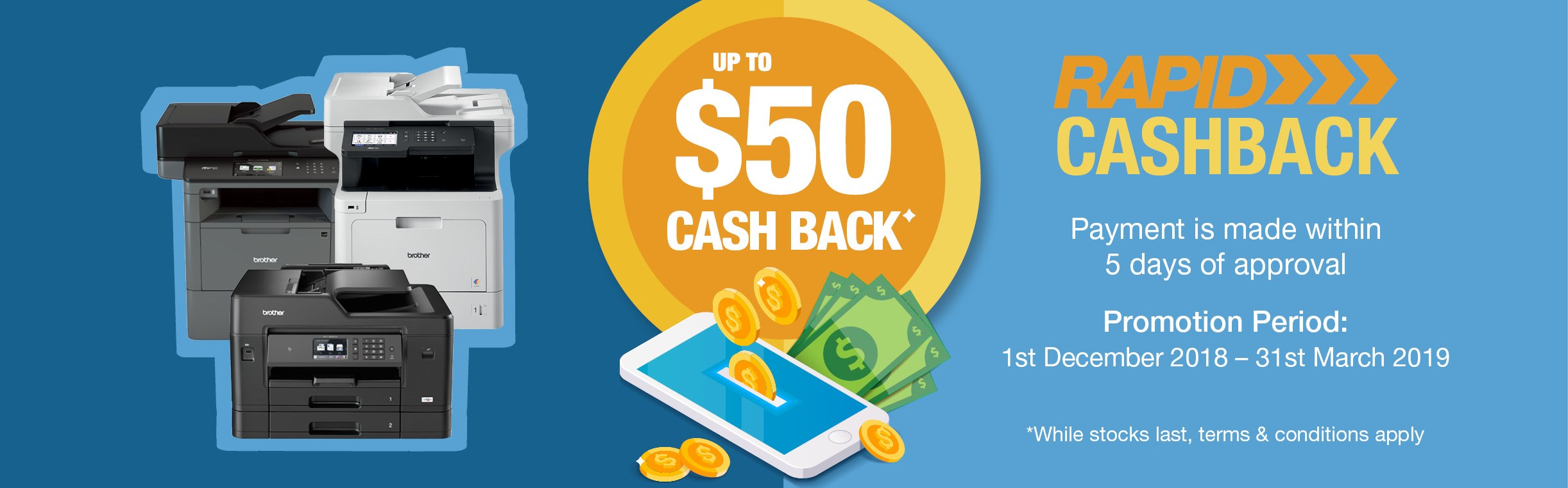 Brother Cash Back Promotion