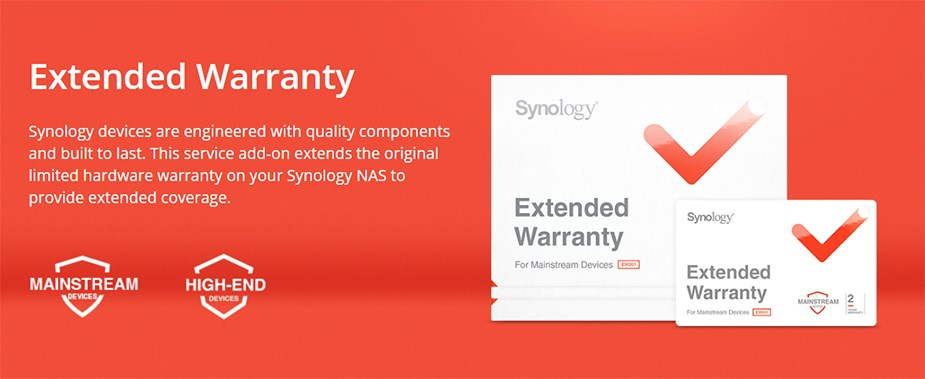 Synology EW201 3 to 5 Years Warranty Extension - Desktop Overview 1
