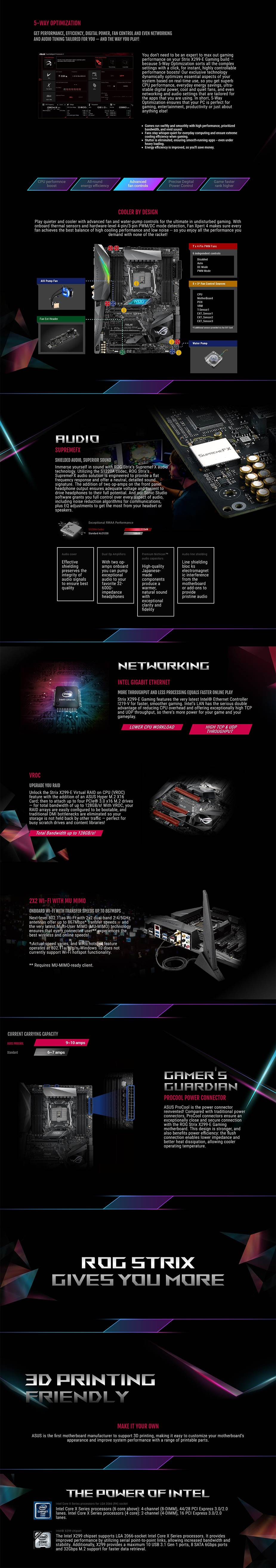 ASUS ROG STRIX X299-E GAMING 2066 ATX Motherboard | ARC Computers