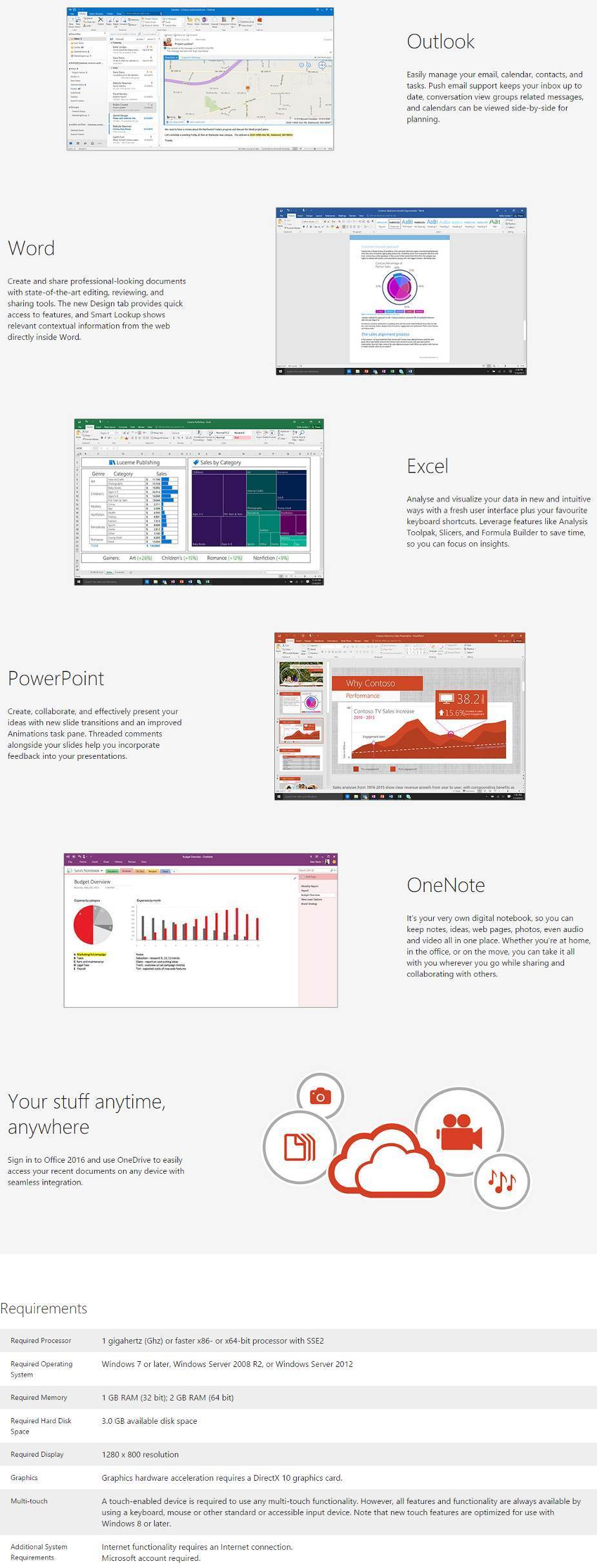 Microsoft Office Home and Business 2016 for Windows - ESD - Digital ...