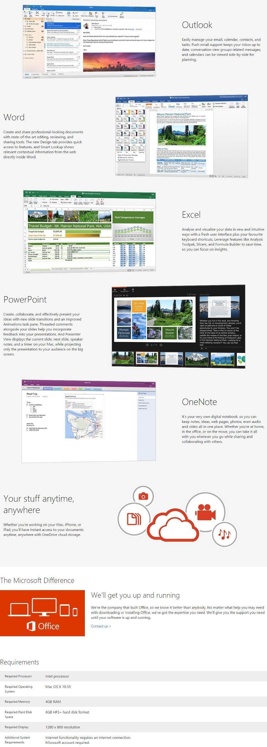 office home and business 2016 for mac requirements