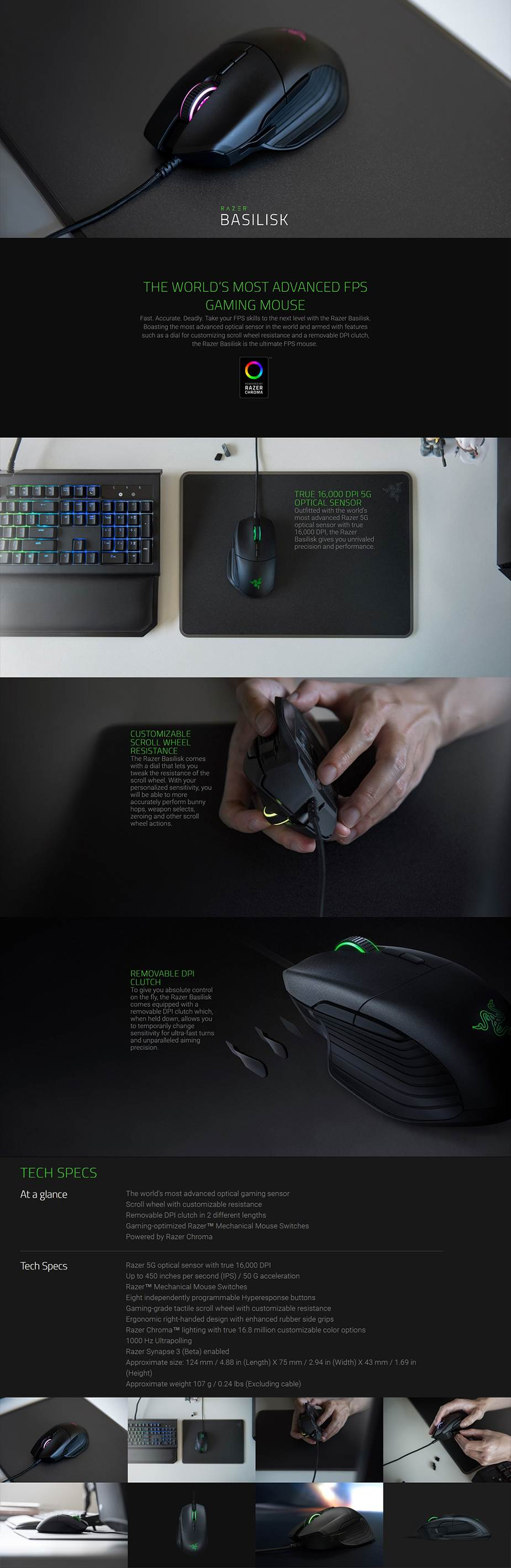 Razer Basilisk Chroma Gaming Mouse - Overview