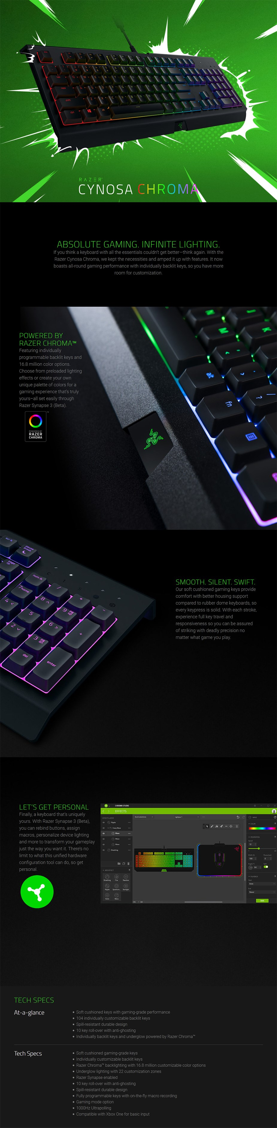 Razer Cynosa Chroma Gaming Keyboard - Overview 1