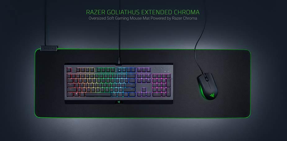Razer Goliathus Chroma Soft Gaming Mouse Mat - Extended - Desktop Overview 1