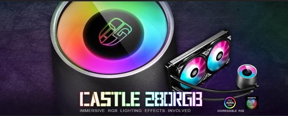 Deepcool Castle 280RGB Gamer Storm AIO CPU Liquid Cooler - desktop overview 1
